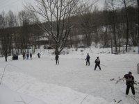 Игра в хоккей - любимая игра в воскресный день